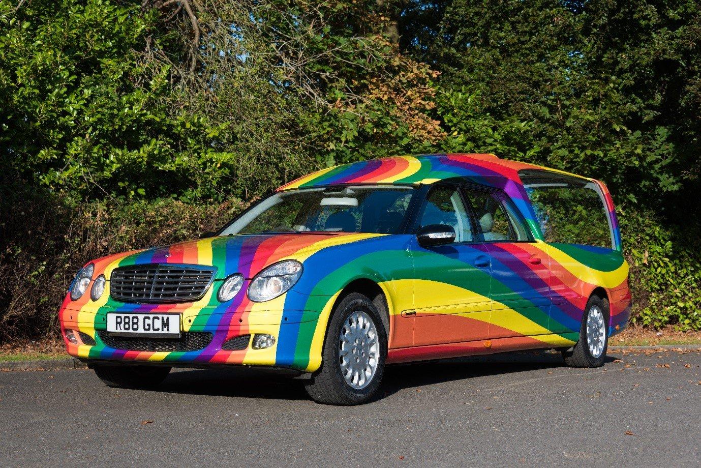 rainbow-hearse